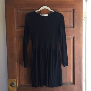 Topshop- black ribbed dress - size 6